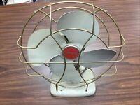 Vintage Superior Electric SuperLectric Model 1053C Industrial Metal Desk Fan