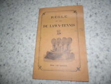 1910.règle du jeu de lawn tennis..