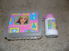 Vintage Barbie Plastic Clear Lunch Box With Thermos