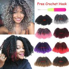 "8"" 3Pcs/pack Mali Bob Curly Weave Twist Crochet Braid Synthetic Hair Extensions"