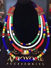 Maasai/Zulu  Elegant Multi-tube Extrodinare Necklace- Afroxone Accessories