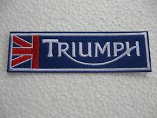 Aufnäher Patch Triumph Racing Motorsport Tuning Biker-MC Motorradsport Motorrad