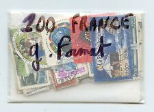 LOT 100 TIMBRES DIFFERENTS FRANCE GRANDS FORMATS