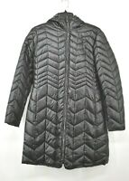 Kenneth Cole Reaction Womens Full-Zip Attached Hooded Quilted Puffer Coat M