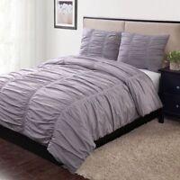 Home Classics Avery 3-pc. Duvet Cover Set, Color - Purple, Size: Cal King