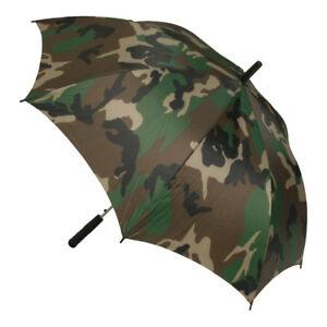 Large Umbrella Woodland Camo Brolly Golf Festival Hunting Fishing Camping Hiking