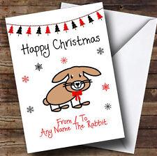 De ou pour le lapin pet personnalisé carte de noël