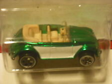 HOT WHEELS CLASSICS VW BUG CONVERTIBLE GREEN 5 SPOKE WHITELINES 21/30 SERIES 2