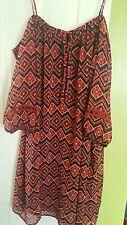 Cold Shoulder Peasant Dress Tunic NWOT sz 12