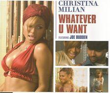 CHRISTINA MILIAN Whatever U want 4TRX REMIXES & VIDEO CD single SEALED USA seler