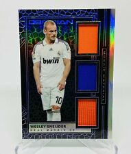 2019-20 Panini Obsidian Wesley Sneijder Triple Jersey Card #47/75 Real Madrid