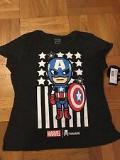Tokidoki  X Marvel  Captain America Womens dark gray Tshirt XL Extra Large