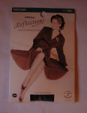 ST MICHAEL REFLECTIONS 7 DENIER TIGHTS - SMALL - COLOUR: BARELY BLACK - NEW