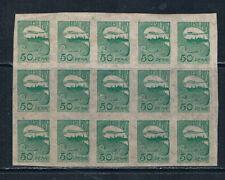 More details for estonia 1921 tallinn skyline 50p green block of 15 **/mnh sg 19 mi 31