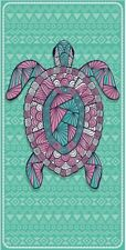 New Sea Turtle Beach Towel Cotton Bath Beach Pool GIFT Turquoise Pink Shell Honu