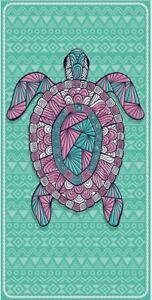 New Turquoise Pink Sea Turtle Towel Cotton Bath Beach Pool GIFT 30x60 Shell Honu