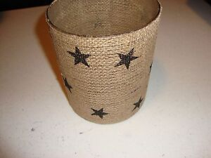 Country new glass Burlap Star Candle Holder