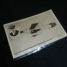 New ListingVintage early aviation postcard-Mr. Grahane-White in plane with photo insert.