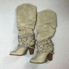 Not Rated Womens Swag Winter Bling Boot  Boots, Size 6.0 Nude