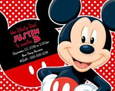 Mickey Mouse Birthday Party Invitations Invites Personalized Custom