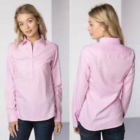 Ladies Hannah Poppy Country Overhead Shirt Rydale Soft Cotton Women's Blouse