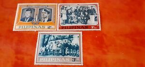 Lot x 3  timbres US. John F. Kennedy
