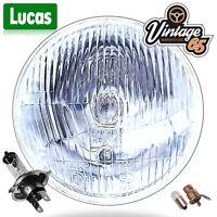 "Lucas 5 & 3/4"" Halogen Headlight Headlamp + Side light MG, FORD, TRIUMPH, ROVER"