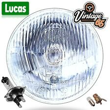 "Lucas 7"" Halogen Headlight Headlamp + Side light MG, FORD, MINI, TRIUMPH, MORRIS"