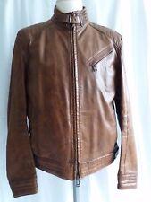 ✔ Belstaff Leder Jacke Framingham Jacket Man Cognac Größe 56