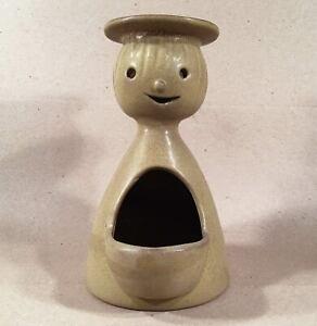 STONEWARE DESIGNS WEST Los Angeles CA Vintage Happy Face Figural Planter No. 479
