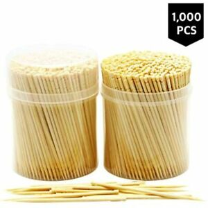 Lot 1000 Wooden Strong Toothpick Bamboo Wood Restaurant Bar Party Appetizer BBQ