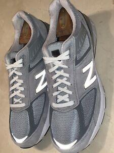 NEW!! NEW BALANCE '990v5' MENS CASTLEROCK/GRAY RUNNING SHOE SIZE 10.5 4E $175