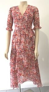 Two Sisters Size 8 NWOT Floral Wrap  Dress