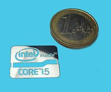 INTEL CORE i5 METALISSED CHROME EFFECT STICKER LOGO AUFKLEBER 21x16mm [535]