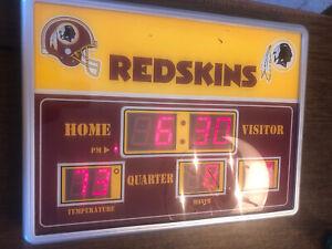 Washington Redskins LED Scoreboard Clock Time Date Temperature