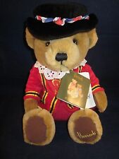 "Harrods Bear 11"" Beefeater Tan Bear Sitting ~ New with Tags"