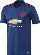 Adidas Manchester United Away 2016/17 Junior Football Shirt 13 Yrs Blue R542-5