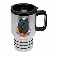 Pomeranian Black Stainless Steel 16oz Tumbler