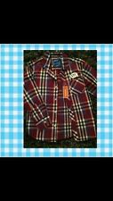 NEW TAGGED Boys Age 7  Debenhams BlueZoo Burgundy Check Smart Shirt