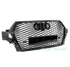 Honeycomb Mesh Sport Rsq7 Style Hex Center Grille Gloss Black For 16-19 Audi Q7 (Fits: Audi)