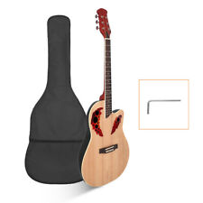 41'' inch Cutawary Back Acoustic Guitar Spruce w/ Bag Guard Board Wrench Tool US