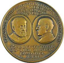 Large Vintage Jewish Israel Medal 1966 Rothschild - Knesset, by Vincze