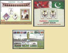 PAKISTAN 2017 Lot of 3 Souvenir Sheets MNH