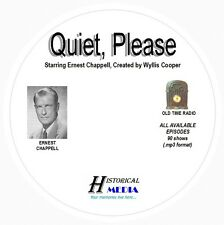 QUIET, PLEASE - 90 Shows Old Time Radio In MP3 Format OTR On 1 CD