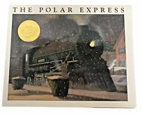 THE POLAR EXPRESS Book (Chris Van Allsburg) + CD (Liam Neeson) Dust Jacket