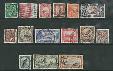 NEW ZEALAND 1935 PICTORIALS (Sc 185-198 wmk single NZ and star) USED