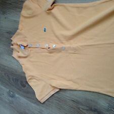 womens size 10 orange cotton Lacoste polo tshirt good condition  100% authentic