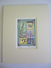 MUSIC DESIGN Limited Edition Print by Penny Gaj - ready mounted NEW
