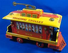 Vintage Broadway Trolley Streetcar Battery Operated Modern Toy Japan Tin Litho