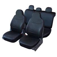 Housses de Siège 1/3 2/3 1/2 en Simili Cuir Noir pour Fiat 500 - QD219